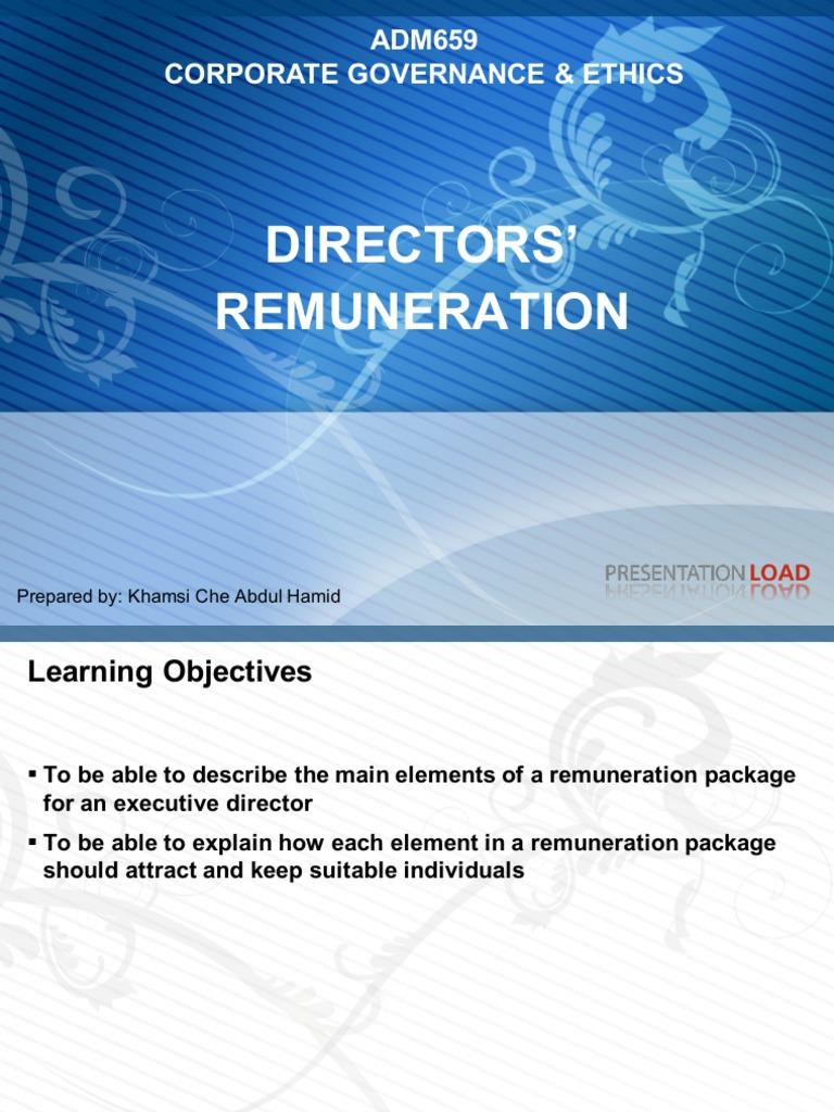 Dissertation directors remuneration