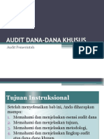 Audit Dana-dana Khusus Audit Internal Pe