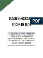 Los Beneficios Del Poder de Dios