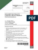 Matura 2016 - francuski - poziom rozszerzony - arkusz maturalny (www.studiowac.pl)