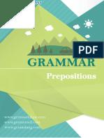 Prepositions Menurut Grammar Bahasa Inggris