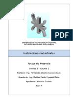 Instalaciones Industriales - U3-A1 - Factor de Potencia