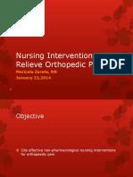 M Zarate Nursing Interventions Ortho Pain