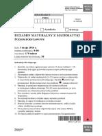 Matura 2016 - matematyka - poziom podstawowy - arkusz maturalny (www.studiowac.pl)