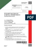 Matura 2016 - niemiecki - poziom podstawowy - arkusz maturalny (www.studiowac.pl)