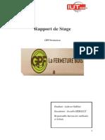 Rapprt de stage GPF Production