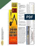 recidivism awareness bike tour brochure