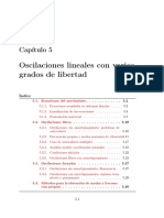 Oscilaciones lineales con varios grados de libertad