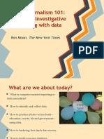 Using Data in Investigative Reporting