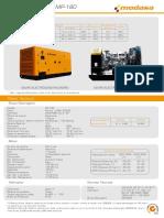 Planta Electrica Modasa 180 Documentacion