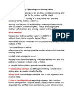Chap 7 Nursing Care During Labor