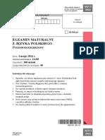 Matura 2016 - polski - poziom rozszerzony - arkusz maturalny (www.studiowac.pl)