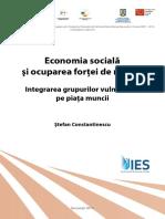 Raport Economia Sociala Si Ocuparea Fortei de Munca. Integrarea Grupurilor Vulnerabile Pe Piata Muncii
