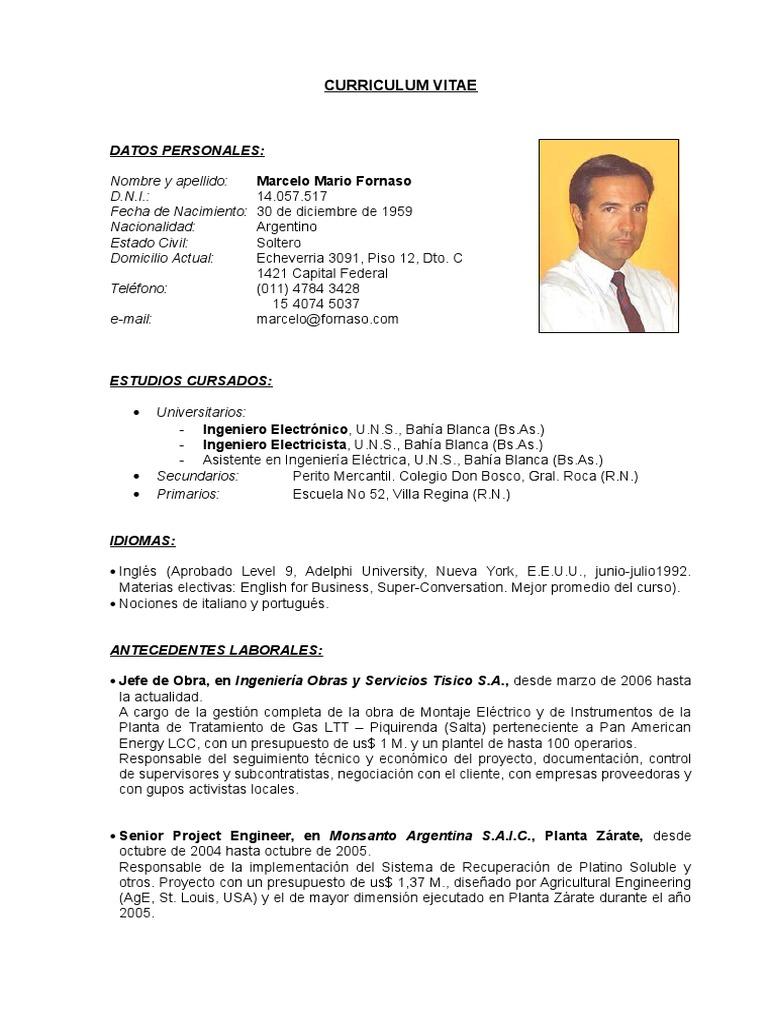 Excepcional Plantillas De Curriculum De Ingeniería Eléctrica Motivo ...