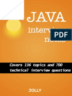 Java Interview Notes Covers 136 Topics and 700 Technical Interview Questions - Jolly M