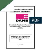 Metodología Actualizada Sectorial y Territorial
