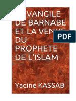 l'Evangile de Barnabe Et La Venue du Prohete De l islam - Yacine Kassab