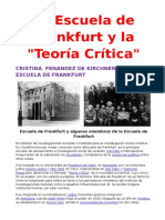 """La Escuela de Frankfurt y La """"Teoría Crítica"""""""