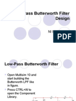 Low-Pass Butterworth Filter Design