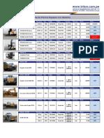 Lista de Precios Usados maquina