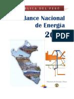 Balance Nacional de Energía Ministerio de Energía y Minas  2014