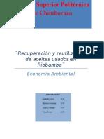 Aceites Usados Riobamba