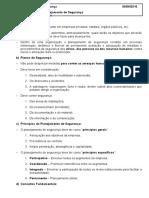 Resumo de Técnico Segurança - IV Noções de Planejamento de Segurança