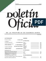Decreto publicado en el Boletín Oficial