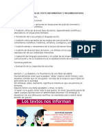 Lectura Autonoma de Texto InforGFGFGmativo y Argumentativos