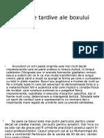 Efectele Tardive Ale Boxului