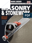 The Complete Guide to Masonry and Stonework Black and Decker 3rd Ed