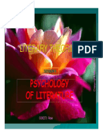 Literary Theories Session 6 Psychology of Literature Compatibility Mode