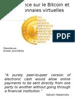 Conférence Sur Le Bitcoin Et Les Monnaies Virtuelles