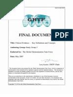 Ghtf Sg5 n1r8 Clinical Evaluation Key Definitions 070501