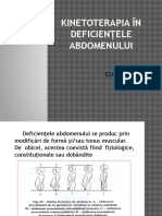 Kinetoterapia in deficientele abdomenului