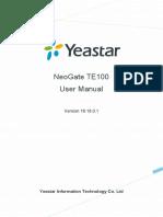 Yeastar TE100 User Manual En