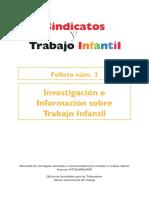 Investigación Sindicatos y Trabajo Infantil