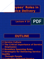 Employ Roles in Serv Delivery