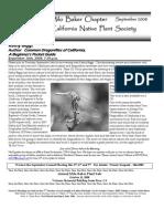 Milo Baker Chapter Newsletter, September 2008 ~ California Native Plant Society