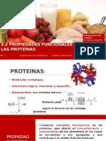 EQUIPO 7 . Propiedades Funcionales de Las Proteinas