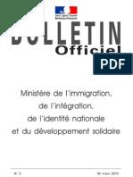 Circulaire expérimentation acquisition nationalité française - 9 février 2010