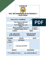 Amplificador Diferencial Informe Final Malca