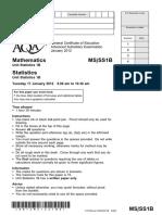 Aqa Ms Ss1b Qp Jan12