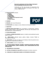 Normas Para Elaboração de Relatórios Parciais e Finais