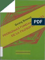 Simmel, Georg., Problemas Fundamentales de La Filosofia