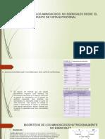 Biosintesis de Los Aminoacidos No Esenciales Desde El