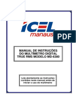 MANUAL DE INSTRUÇÕES  DO MULTÍMETRO DIGITAL  TRUE RMS MODELO MD-6380