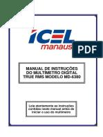MANUAL DE INSTRUÇÕES  DO MULTÍMETRO DIGITAL  TRUE RMS MODELO MD-6380