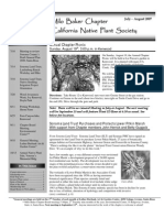 Milo Baker Chapter Newsletter, July 2007 ~ California Native Plant Society