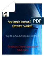 New Dams in Northern Sudan - Alternative Solutions